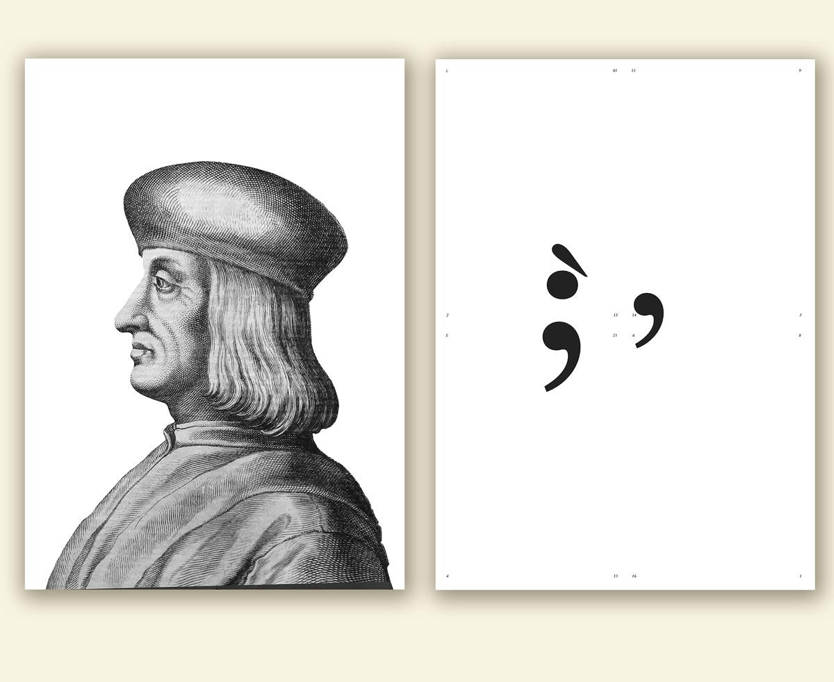 Aldo Manuzio, Elementi di composizione del manifesto