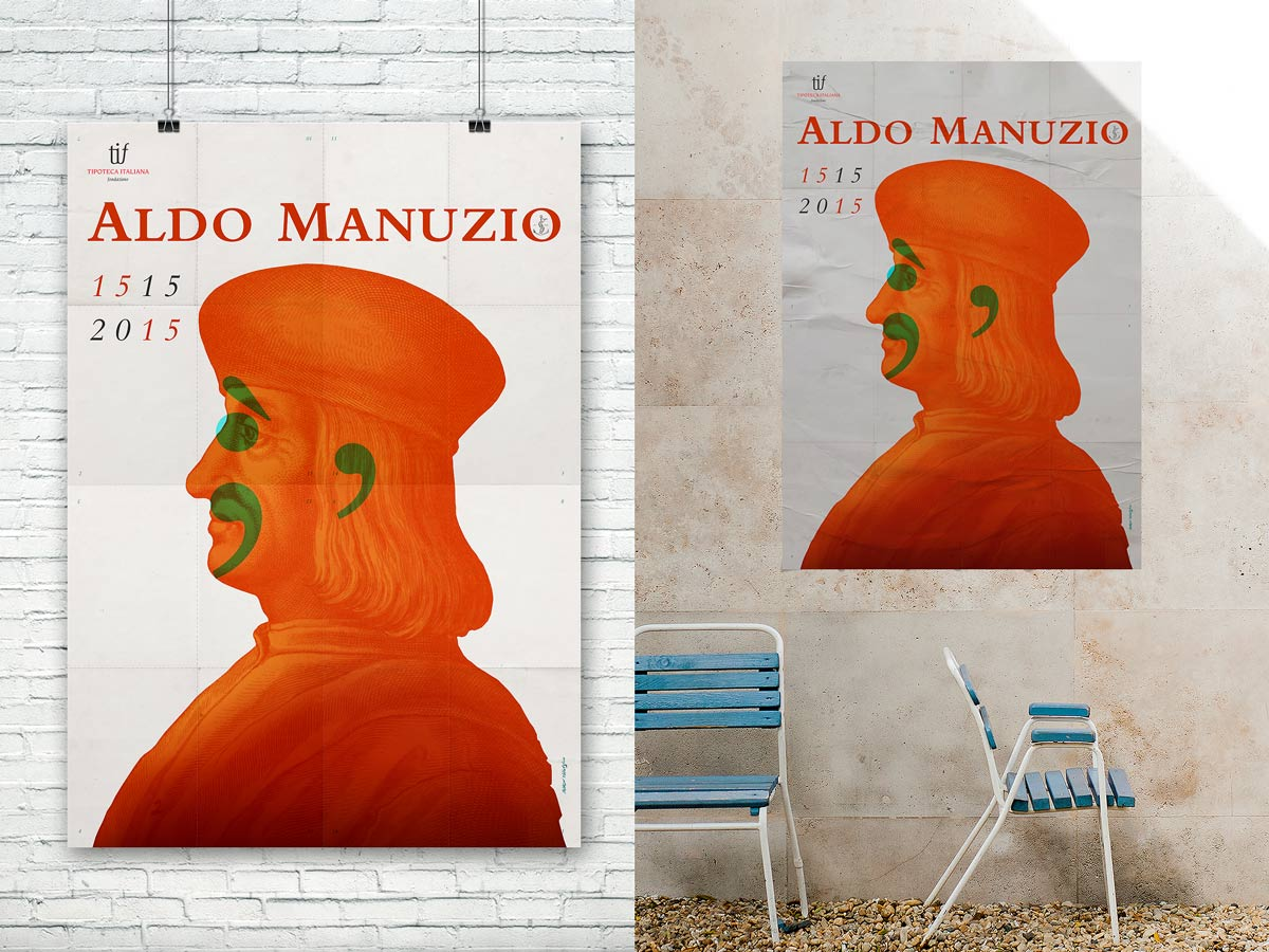 Aldo Manuzio, Manifesto mock-up