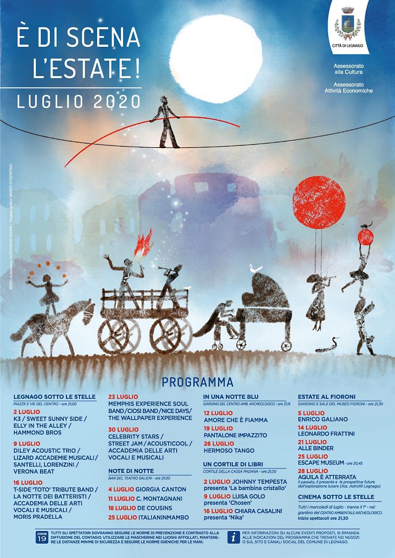 È di scena l'estate, Legnago 2020 - Locandina A3
